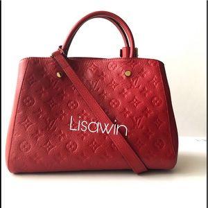 💯% Authentic Louis Vuitton Leather Bag